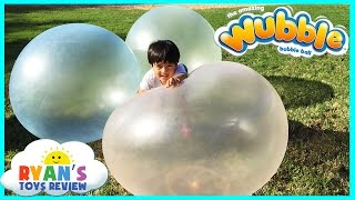 Download WUBBLE BUBBLE BALL Family Fun playtime outside with GIANT BALL kids Video Ryan ToysReview Video