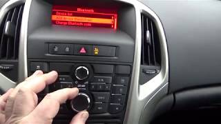 Download how to pair / connect mobile phone with car stereo speakers bluetooth opel vauxhall astra j Video