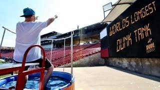 Download World's Longest Dunk Tank Throw | Dude Perfect Video