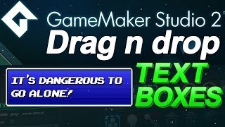 Download GameMaker Studio: Text Boxes Tutorial - (DnD) Drag and Drop Video