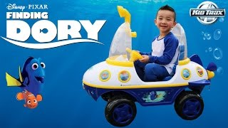 Download Unboxing Kid Trax Disney Pixar Finding Dory Submarine 6 Volt Battery Powered Ride-On Toy Car Ckn Video