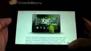 Download Android app player for the BlackBerry PlayBook.mp4 Video