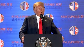 Download Trump speaks after historic summit with Kim Jong Un Video