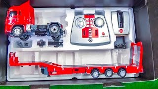 Download RC heavy load truck gets unboxed and loaded for the first time! Video
