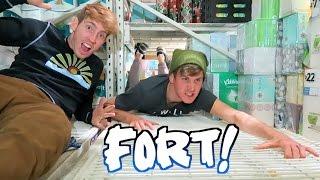 Download BLACK FRIDAY TOILET PAPER FORT! (We Got Caught!) Video
