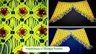 Download How to make Macrame Toran Design 6 (V shape toran) |- Macrame Art Video