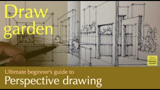 Download One point perspective sketch.... must see Video