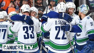 Download Sedins Celebrated at Rogers Place in Final NHL Game (Apr. 07, 2018) Video