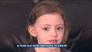 Download 6-year-old girl buys birthday gifts for children in need Video