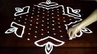 Download Special Diwali kolam with 13-7 middle | chukkala muggulu with dots| rangoli design Video