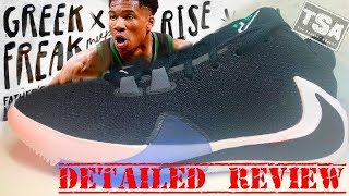 Download Nike Zoom Freak 1 NBA Giannis Antetokoumpo Signature Shoe Detailed Look Review Video