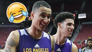 Download LONZO BALL AND KYLE KUZMA FUNNIEST AND BEST MOMENTS 2017! LIGHTSKIN CONNECTION! Video