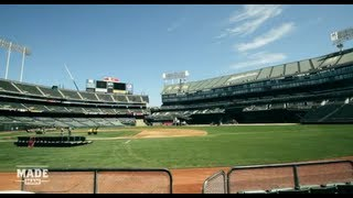 Download Flipping Oakland's Field from Baseball to Football Video