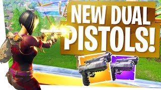 Download The NEW DUAL WIELD PISTOLS are SCARY! - Fortnite New Gun Patch 4.5 (Playground Mode Removed Temp) Video