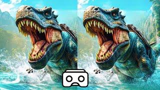 Download 🔴 Dinosaur VR VIDEO 3D Split Screen for Virtual Reality VR BOX 3D not 360 VR Video