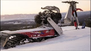 Download Building a Snow Bike Kit for 500cc Snowmobile Powered Scooter! Video
