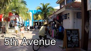 Download 5th Avenue, Playa del Carmen, Mexico   Walking Tour Video