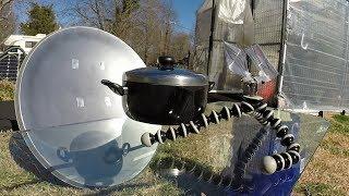 Download Parabolic Satellite Dish Conversion - Solar Cooker Video