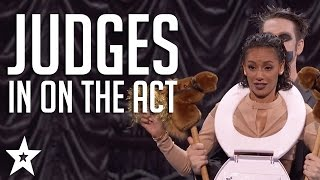 Download Got Talent JUDGES Get in on The Act | Including Tape Face & More! | Got Talent Global Video