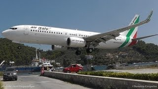 Download LOWEST 737 LANDING EVER! @ Skiathos, the second St Maarten | Air Italy 737-8BK crazy pilot! Video