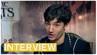 Download Fantastic Beasts - Does Ezra Miller have a magic backpack? | exclusive interview (2016) Video