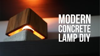 Download DIY Modern Concrete Lamp that ″floats″ Video