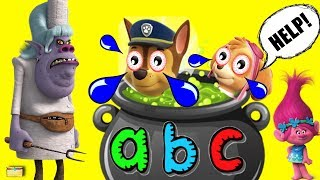 Download ALPHABET SOUP Learn Colors, ABCs, Letters with Paw Patrol Bergen Chef Trolls Surprise Toys Video