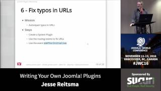 Download JWC 2016 - Writing Your Own Joomla! Plugins - Jisse Reitsma Video
