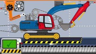 Download Spiderman Excavator   Toy Factory - Video For Kids   Koparka Spiderman - Fabryka Zabawek Video