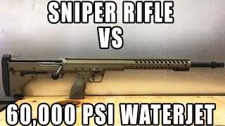 Download Sniper Rifle vs 60,000 PSI Waterjet Video