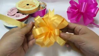 Download HOW TO MAKE AN EASY GIFT RIBBON BOW STEP BY STEP POMPOM POM POM PON MUST WATCH Video