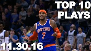 Download Top 10 NBA Plays: 11.30.16 Video