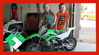 Download NEW DIRT BIKE FOR THE KIDS (Day 1571) | Clintus.tv Video