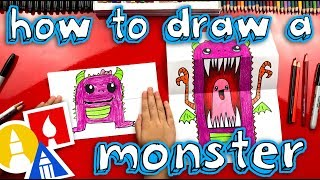 Download How To Draw A Scary Cute Monster (Folding Surprise) Video
