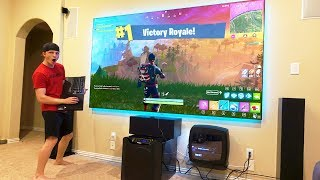 Download FORTNITE ON A $10,000 PROJECTOR! (120 INCHES!) Video