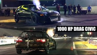Download 1000 HP K-Series Turbo Civic At The Track On Low Boost | Elite Racing Team Video