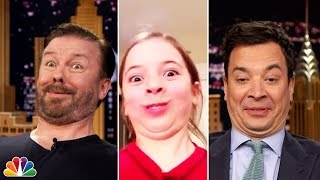 Download Tonight Show Funny Face Off with Ricky Gervais Video