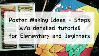 Download Easy Poster Making Idea(s) for Elementary and Beginners Video