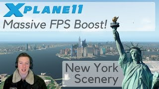 Download X-Plane FPS Performance Boost / Tweak - Demo on New York Scenery (X-Plane 10/11) Video