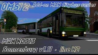 Download OMSI 2 • Sonnenburg v1.11 (line N2) • MAN Citybus series (NG313) Video