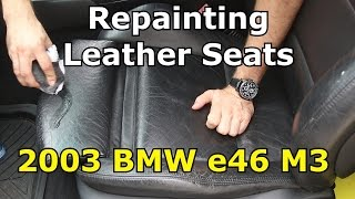 Download How to paint BMW M3 leather seats Video
