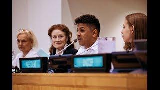 Download UNICEF | Jovem brasileiro participa de reunião do Conselho do UNICEF em Nova Iorque Video