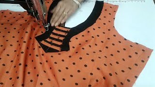 Download Simple and easy kurti neck design Video