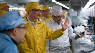 Download Apple CEO Tim Cook Visits China Foxconn Manufacturing Plant Video