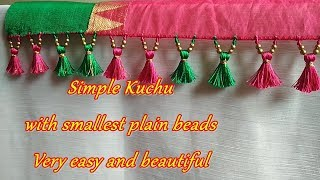 Download Saree Kuchu/tassel using smallest plain beads- tips and tricks for beginners Video