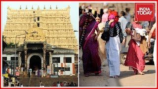 Download Protest Against Relaxation On Women's Dress Code For Entry Into Padmanabhaswamy Temple Video