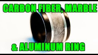 Download Making a Carbon fiber, marble and aluminum wedding ring! Video