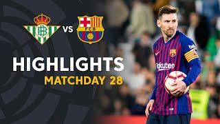 Download Highlights Real Betis vs FC Barcelona (1-4) Video