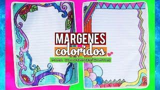 Download Margenes Coloridos para Cuadernos/Cartas Video