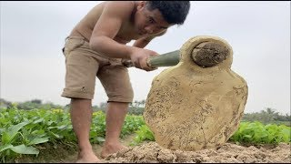 Download Primitive Technology: Making labor tools (Hoe) and Search for metal (gold or copper) Video